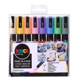 Posca 2.5mm PC-5M Marker 8 Piece Pastel Set